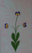 Violets Drawings - Violet Bouquet by Ipek  Demir