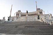 Stairways Framed Prints - Vittoriano Monument to Victor Emmanuel II. Rome Framed Print by Bernard Jaubert