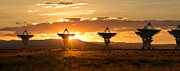 Array Framed Prints - VLA at Sunset Framed Print by Matt Tilghman