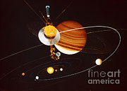 Interstellar Space Photos - Voyager Saturn Flyby Artwork by Science Source