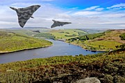 Abbey Clough Prints - Vulcan Thunder in the Valley Print by Martin Jones