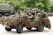 Covering Prints - Vw Iltis Jeeps Used By Scout Or Recce Print by Luc De Jaeger