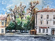 Moscow Painting Posters - W 24 Moscow Poster by Dogan Soysal
