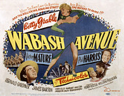 Grable Framed Prints - Wabash Avenue, Betty Grable, 1950 Framed Print by Everett