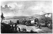 Wagon Train Photos - WAGON TRAIN, c1844 by Granger