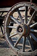 Barn Pen And Ink Photo Posters - Wagon Wheel Poster by Athena Mckinzie