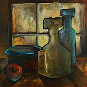 Jars Paintings - Waiting by Michael Lang