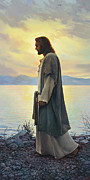 Ocean Shore Painting Posters - Walk with Me  Poster by Greg Olsen