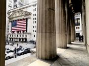 Businesspeople Framed Prints - Wall Street And The New York Stock Framed Print by Justin Guariglia
