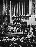 Crowd Scene Art - Wall Street Crash 1929 by Granger