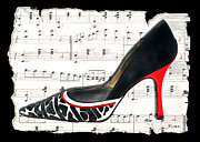 Stilettos Paintings - Waltzing Pumps by Elaine Plesser