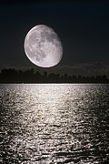 Waning Gibbous Moon Prints - Waning Gibbous Moon Print by David Nunuk