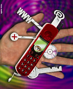 Cellular Photos - Wap Mobile Telephone by Victor Habbick Visions