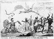 Cruikshank Posters - War Of 1812: Cartoon Poster by Granger