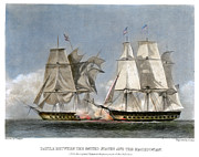 War 1812 Prints - War Of 1812: Naval Battle Print by Granger