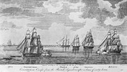 War 1812 Prints - War Of 1812: Sea Battle Print by Granger