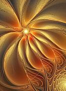 Abstract Flowers Digital Art - Warm Feelings by Amanda Moore
