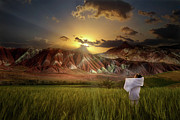 Photomanipulation Photo Prints - Warm rays of hope Print by Hamid Reza Farzandian
