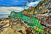 Portland Lighthouse Photos - Washed Up by Adam Jewell