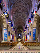 Cathedrals Prints - Washington National Cathedral - Washington DC Print by Brendan Reals