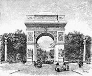 Washington Square Park Framed Prints - Washington Square Arch Framed Print by Granger