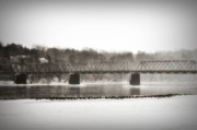 Delaware River Prints - Washingtons Crossing Bridge Print by Bill Cannon