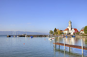 Lindau Framed Prints - Wasserburg Framed Print by Joana Kruse