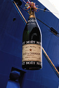 Moet Posters - Wasting Champagne Poster by Carl Purcell
