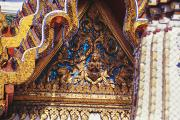 Handcarved Art - Wat Phra Keo (Grand Palac by Allan Seiden - Printscapes