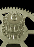 Mechanism Prints - Watch Gears, Sem Print by Steve Gschmeissner