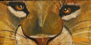 Chapeaux Paintings - watch the Lion by Patty Meotti
