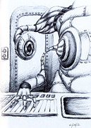 Science Fiction Drawings - Watcha Doin? by Michael Ivy