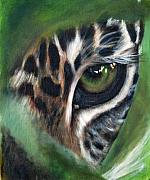 Cheetah Painting Prints - Watching you watching me Print by Fiona Jack   