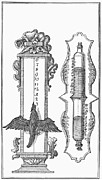 18th Century Photos - WATER CLOCK, 18th CENTURY by Granger