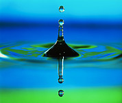 Impact Metal Prints - Water Drop Metal Print by Adam Hart-davis