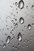 Steel Photo Posters - Water Drops Poster by Frank Tschakert