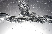 Liquid Droplets Prints - Water, High-speed Photograph Print by Crown Copyrighthealth & Safety Laboratory