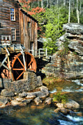 Wood Wheel Prints - Water Mill in Autumn Print by Jill Battaglia