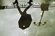 Puddle Prints - Water puddle Print by Mats Silvan