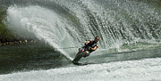Slalom Prints - Water Skiing Magic of Water 27 Print by Bob Christopher
