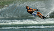 Slalom Prints - Water Skiing Magic of Water 28 Print by Bob Christopher