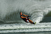Slalom Prints - Water Skiing Magic of Water 29 Print by Bob Christopher