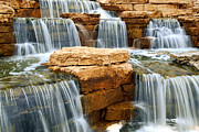 Garden Landscape Photo Posters - Waterfall Poster by Elena Elisseeva
