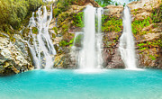 Natural Pool Prints - Waterfall panorama Print by MotHaiBaPhoto Prints