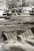 Snow Covered Landscape Posters - Waterfalls With Fresh Snow Thunder Bay Poster by Susan Dykstra