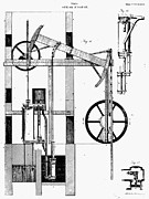 Watt Posters - Watts Steam Engine, 1769 Poster by Granger