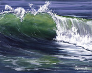 Oceanside Painting Prints - Wave 8 Print by Lisa Reinhardt