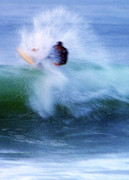 Surf The Rincon Metal Prints - Wave Blaster Metal Print by Ron Regalado