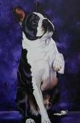 Dog Paw Paintings - Wave by Susan Herber