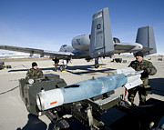 Paveway Posters - Weapons Crews Load A Gbu-12 Laser Poster by HIGH-G Productions